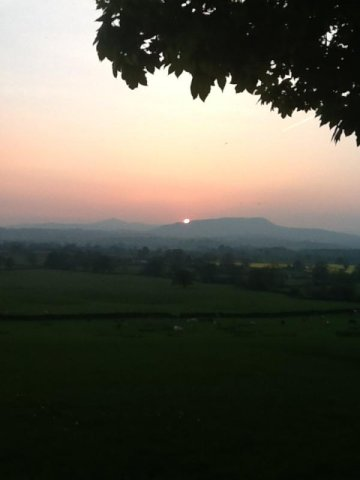 Sunset over the Skirrid